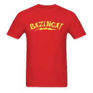 T-Shirts ~ Men's T-Shirt ~ BAZINGA T-Shirt New!