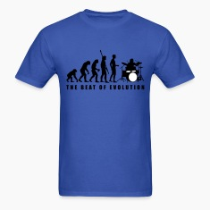 Royal blue evolution_drummer_c_2c T-Shirts