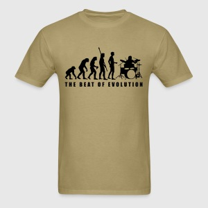 Khaki evolution_drummer_c_1c T-Shirts - Men's T-Shirt