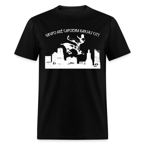 Men's Black Grupo Axé Capoeira Kansas City - Men's T-Shirt
