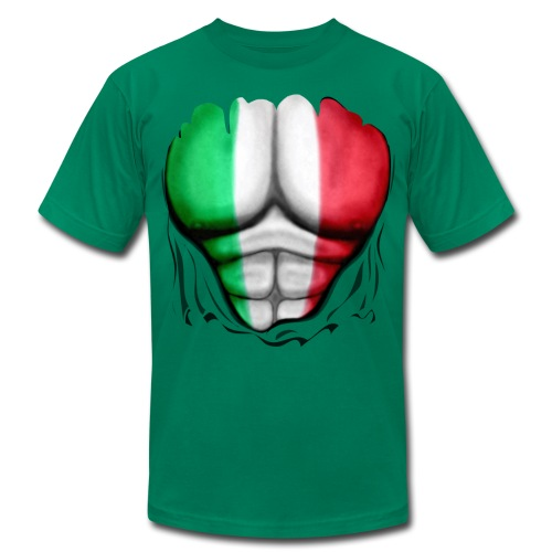 Mexico Flag Ripped Muscles, six pack, chest t-shirt - Men's  Jersey T-Shirt