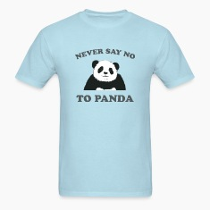 Sky blue Never Say No To Panda - Grey T-Shirts