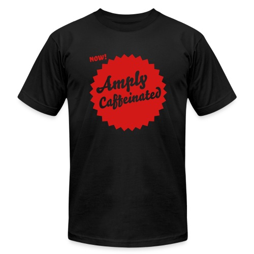 Amply Caffeinated - Red (mens) - Men's Fine Jersey T-Shirt