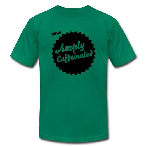 Amply Caffeinated - Green (mens) - Men's Fine Jersey T-Shirt