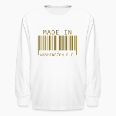 White Made in Washington D.C. Kids' Shirts