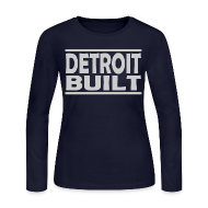 Long Sleeve Shirts ~ Women's Long Sleeve Jersey T-Shirt ~ Detroit Clothing Built Women's Long Sleeve Jersey Tee