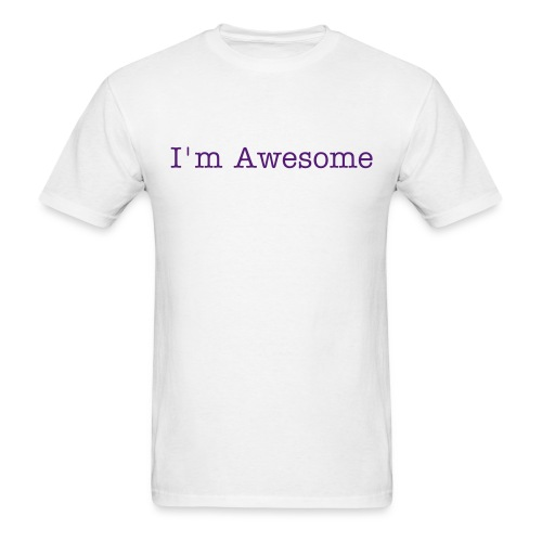 Men's tee- Awesome (purple) - Men's T-Shirt
