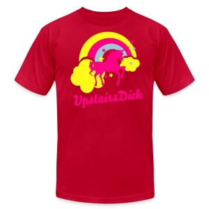 UpstairsDick Men's AA Tee - Men's T-Shirt by American Apparel