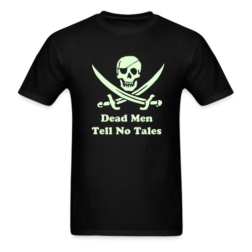 PIRATES of the CARIBBEAN T-Shirt - Dead Men Tell No Tales! (Glow) - Men's T-Shirt