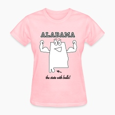 State with balls Alabama t-shirts