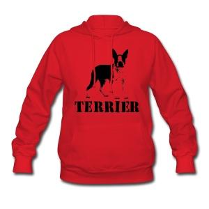 Boston Terrier Women's Hooded Sweatshirt - Women's Hoodie