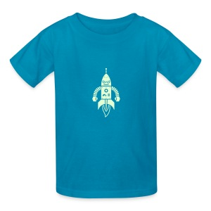 Astrobot [Glow on Orange] - Kids' T-Shirt