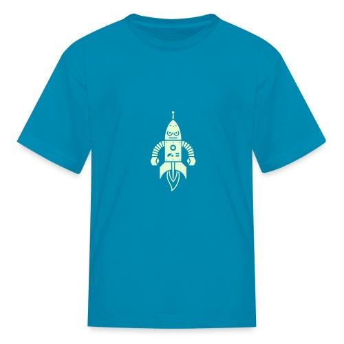 Astrobot [Glow on Orange] - Kids' T-Shirt