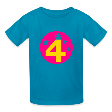 Classic pink Birthday 4 four Kids' Shirts