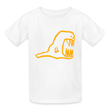 White Monster Kids' Shirts