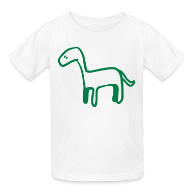 White Dinosaur - Dino Kids' Shirts