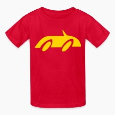 Red Race Car Kids' Shirts
