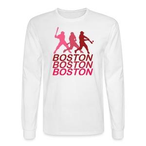 Boston Three Men's Long Sleeve Tee - Men's Long Sleeve T-Shirt
