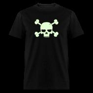 T-Shirts ~ Men's T-Shirt ~ SKULL BONE T-Shirt - Glow -in-the-Dark