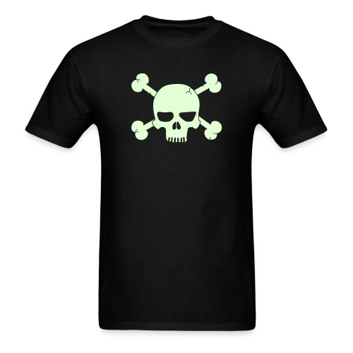 SKULL BONE T-Shirt - Glow -in-the-Dark - Men's T-Shirt