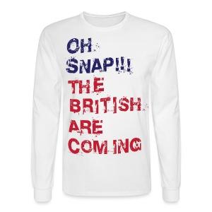 Oh Snap Boston Men's Long Sleeve Tee - Men's Long Sleeve T-Shirt