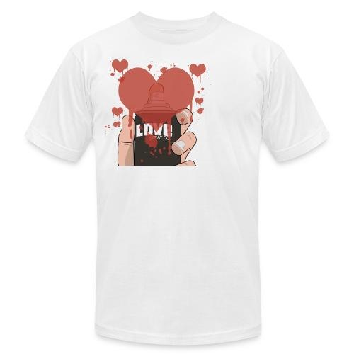 Love Spray White M - Men's Fine Jersey T-Shirt
