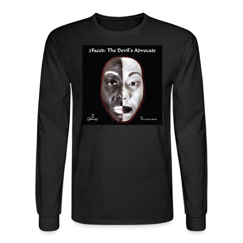 Limited edition 2Faced: The Devil's Advocate Men's long sleeve Tee - Men's Long Sleeve T-Shirt