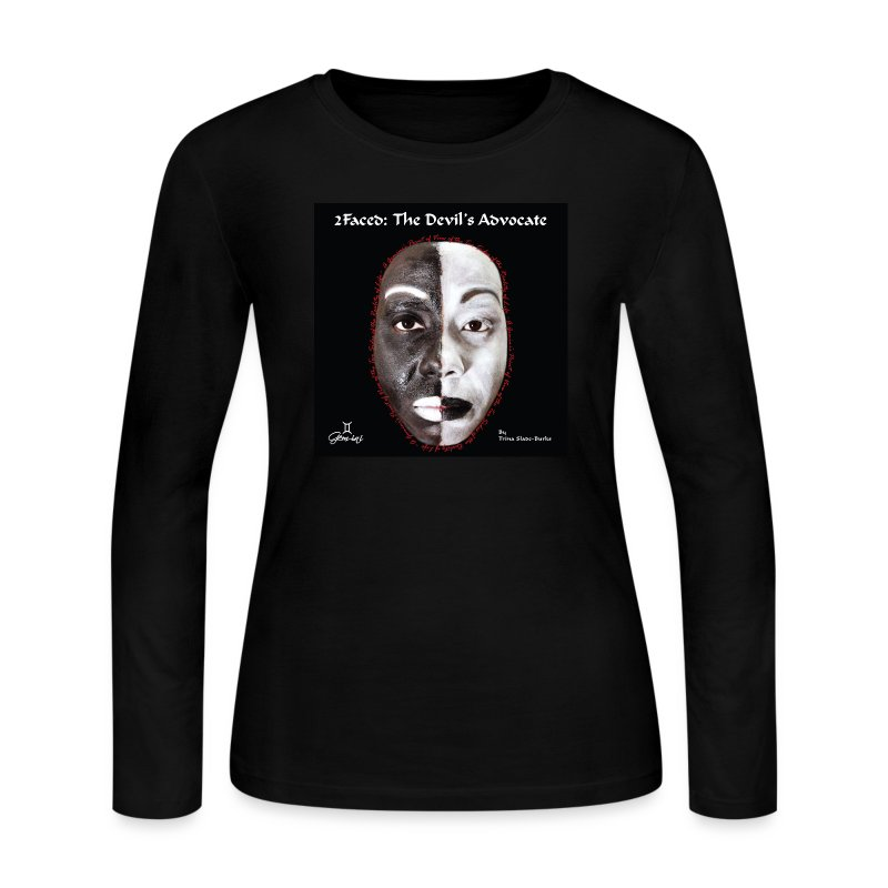 Limited edition 2Faced: The Devil's Advocate Ladies long sleeve Tee - Women's Long Sleeve Jersey T-Shirt