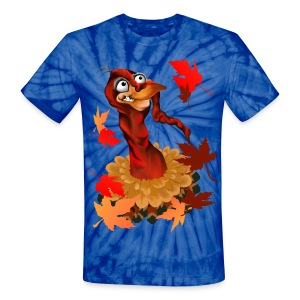 Goofy Thanksgiving Turkey - Unisex Tie Dye T-Shirt