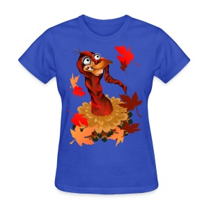 Goofy Thanksgiving Turkey - Women's T-Shirt