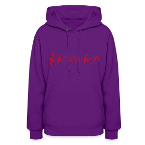 Boston Sign Language Women's Hooded Sweatshirt - Women's Hoodie