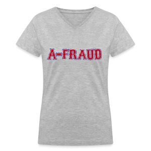 A-Fraud Sox Style Women's V-Neck T-Shirt - Women's V-Neck T-Shirt