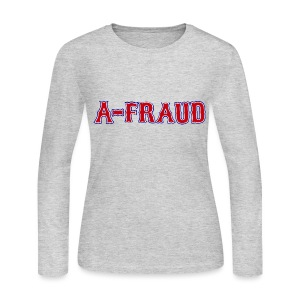 A-Fraud Sox Style Women's Long Sleeve Jersey Tee - Women's Long Sleeve Jersey T-Shirt