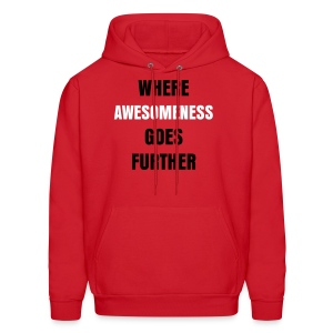 Where Awesomeness Goes Further Hoodie - Men's Hoodie