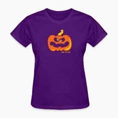 Purple Angry Pumpkin Women's T-Shirts