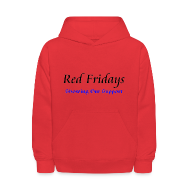 Sweatshirts ~ Kids' Hoodie ~ Red Fridays
