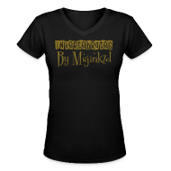 T-Shirts ~ Women's V-Neck T-Shirt ~ Msjinkzd Women's Flex Print V neck T