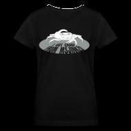 T-Shirts ~ Women's V-Neck T-Shirt ~ Msjinkzd: Women's Flock Print V Neck T