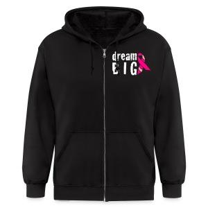 Dream Big For Breast Cancer Awareness Zipper Hoodie - Men's Zip Hoodie