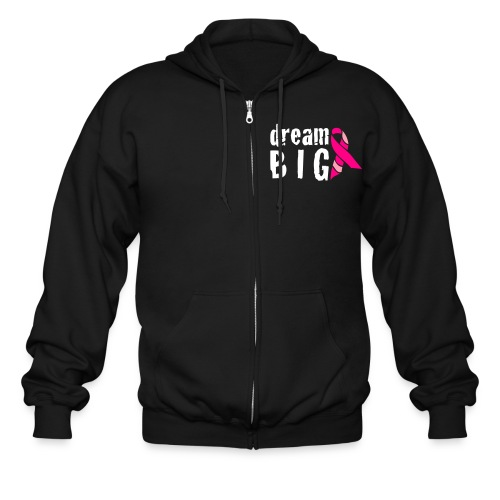 Dream Big For Breast Cancer Awareness Zipper Hoodie - Men's Zip Hoodie