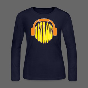 Detroit Headphones Women's Long Sleeve Jeresy Tee - Women's Long Sleeve Jersey T-Shirt