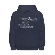 Sweatshirts ~ Kids' Hoodie ~ Detroit Built Packard Hood Ornament Kid's Hooded Sweatshirt
