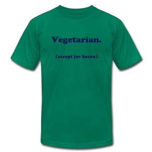 Vegetarian (except for bacon) - Men's T-Shirt by American Apparel
