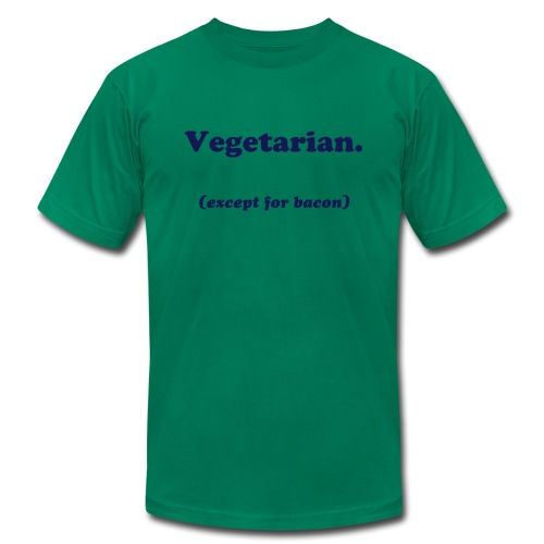 Vegetarian (except for bacon) - Men's  Jersey T-Shirt