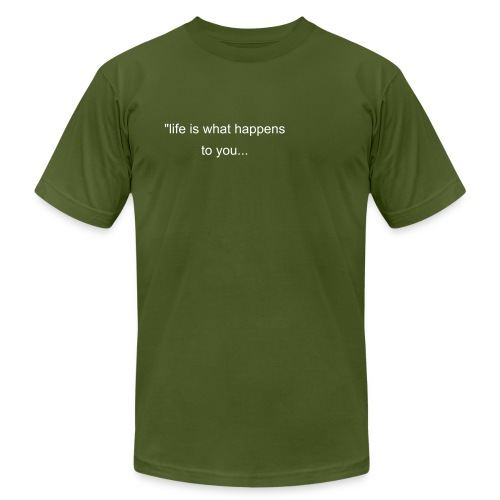 John Lennon Quote tee - Men's Fine Jersey T-Shirt