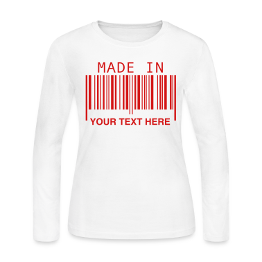 White Made in ... Long Sleeve Shirts
