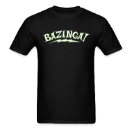 T-Shirts ~ Men's T-Shirt ~ NEW Limited Edition GLOW IN THE DARK BAZINGA T-Shirt - Halloween Edition