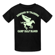 Kids' Shirts ~ Kids' T-Shirt ~ GLOW IN THE DARK DEMIGOD Kid's T-Shirt - Pegasus Halloween Limited Edition