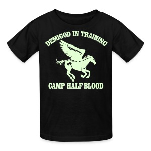GLOW IN THE DARK DEMIGOD Kid's T-Shirt - Pegasus Halloween Limited Edition - Kids' T-Shirt