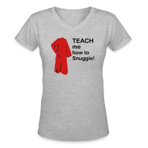 Teach me how to snuggie women's V-Neck - Women's V-Neck T-Shirt